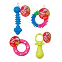 Dog Toy Rubber 4 Styles In Pdq #gt11027