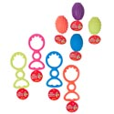 Dog Toy Rubber & Tpr 2 Styles 5 Colors In Pdq Hang Tag #gt11014