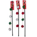 Cat Toy Christmas Wand Assortment 16 Inch In Pdq #ct10362