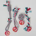 Dog Toy Christmas Rope Chews 6 Asst Gree,red,white In Pdq #c25150