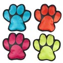Dog Toy Canvas W/squeaker Paw Shape Design 4 Colors In Pdq #p30200