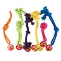 Dog Toy Rope Chews 6 Assorted Colors And Styles In Pdq #c25618
