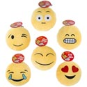 Dog Toy Plush 9in Emoticons W/ Squeaker 6 Asst Faces In Pdq #p30936
