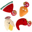 Dog Toy Plush Food Assortment W/squeaker 5-6in In Pdq #p30939