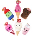 Dog Toy Plush Dessert Assortment With Squeaker 6 Styles In Pdq #p30941+p30942