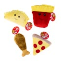 Dog Toy Plush Food Assortment W/squeaker 4 Styles In Pdq #p30943