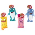 Dog Toy Canvas Animal Assortment W/squeaker 4 Styles In Pdq #p30949