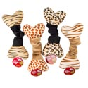 Dog Toy Plush/elastic Bone 10in W/squeaker 4 Assorted In Pdq #p30948