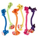 Dog Toy Rope Chew 6 Assorted Colors In Pdq #c25617