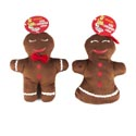 Dog Toy Christmas Plush Gingerbread Man In Pdq #f31093