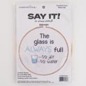 Craft Kit Cross Stitch 6in Wood Hoop Full Glass *9.99*