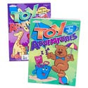 Coloring Book Toy Adventures 2 Asst 120pc Flr Disp Ppd$3.95 Made In Usa