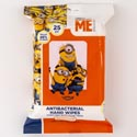 Wipes 25ct Minions Anti-bacterial 5.9in 7.9in