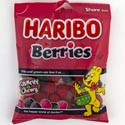 Gummy Candy Haribo Raspberries 4 Oz Peg Bag