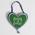 Wall Decor 4.5 X 5.25 Mdf Family Hanger W/heart Dangle (2.75)