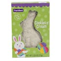 Easter Candy Cookies N Creme Solid Rabbit 2.25 Oz Box In Pdq