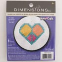 Craft Kit Cross Stitch 3in Wood Hoop Peace And Love *9.99*