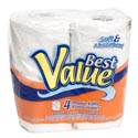 Bath Tissue 4pk 2ply Double Roll Best Value Brand
