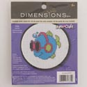 Craft Kit Cross Stitch 3in Wood Hoop Cool Fins *9.99*