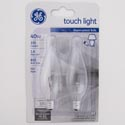 Light Bulbs 2pk 40w Blunt Tip Ge Deco B10 Candle Base Carded
