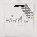Gift Bag 9.75 X 8.25 X 3.75 Cub Embellished Party Animals