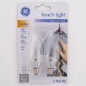 Light Bulbs 2pk 40w Ge Deco B10 Candle Base Carded