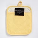 Pot Holder 6-1/2 X 5 Yellow With Pocket Grip