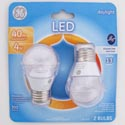 Light Bulbs 2pk Led 4w = 40w Ge A15 Med Base *6.99* Ceiling Fan Clear Finish Carded