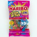Gummi Candy Haribo Zing Sour Bites 3.2 Oz Peg Bag