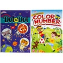 Color/activity Book Color By Number And Dot 2asst In Pdq Made In Usa Ppd $3.95