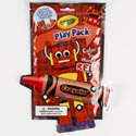 Play Pack Crayola Red Stickers,fun Size Book,stencils