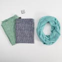 Scarf Infinity Polyester 3 Asst Colors Let It Rain (4.50)