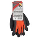 Glove Thermal Knit Orange Small Insulated Hvy Duty Latex *9.95* Palm Carded # C4005hvors