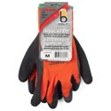 Glove Thermal Knit Orange Med. Insulated Heavy Duty Latex*9.95* Palm Carded # C4005hvorm