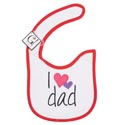 Baby Bib I Love Dad 12.5 X 8 Cotton (3.00)