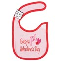 Baby Bib 1st Valentines Day 12.5 X 8 Cotton (3.00) 7701895