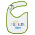 Baby Bib More Jelly Beans 12.5 X 8 Cotton