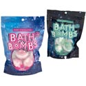 Bath Bombs 3pk 5.3 Oz Each 2 Asst Peggable Bag See N2