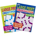 Crossword Puzzle Large Print 2asst In 120pc Floor Disp $3.95 Made In Usa