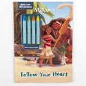 Color Book 48pg W/4 Crayons & 30 Stickers Disney Moana *4.99*