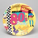 Plate Paper 9in 8ct 80's Decade *2.00* #wm424473