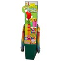 Candy Sour Face Twister Stocking Stuffer Center 136pc Floor Disp Big Stick,sour Powder,magic W
