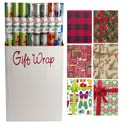 Gift Wrap Christmas 40 Sq Ft 8 Asstd 30 Inch Wide Ppd $3.99 I.5 Inch Core Made In Usa