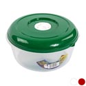 Food Storage Container 3 Qt W/ Air Vent 3 Color Lids -clear Bottom #vent Omega