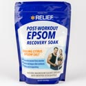 Epsom Salt Post Workout Recovery 16 Oz Resealable Bag Cooling Citrus