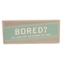 Message Bar Ceramic Bored 7x3x3/8 Metallic Accents *10.00* Standing  # Gmb32-13801
