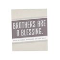 Magnet W/metallic Accents Mdf Brothers Paper Wrapped *5.00* 2-3/4x3-1/4x3/8 # Cmag-13803