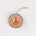 Ornament Resin 3in Diameter Peace Love Prayers *6.00* # X01-14815