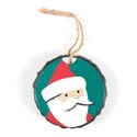 Ornament Resin 3in Diameter Santa *6.00* # X01-14819