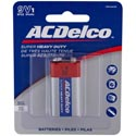 Batteries 9 Volt 1pk Heavy Duty Ac Delco On Blister Card